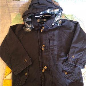 Boys size 5 navy blue OshKosh toggle jacket